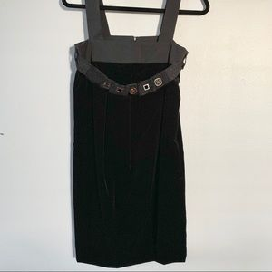 'S Max Mara Velvet LBD with Removable Tie Sash